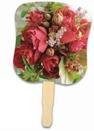 Custom Flower Bouquet Stock Design Hand Fan