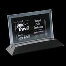 Custom Jade Embassy Award w/ Rosewood or Black Wood Base (4