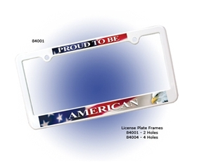 "AAKRON License Plate Frame W/ 2 Holes - Full Color Digital, 12 3/8"" W X 6 5/16"" H, Price/piece"