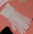 Long White Cotton Adult Gloves