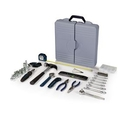 Custom Professional Deluxe Tool Kit w/ 22 Piece Ratchet Set (Blue & Black Handles)
