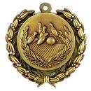Custom Stock Bowling Medal w/ Wreath Edge (1 1/2