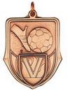 Custom 100 Series Stock Medal (Soccer) Gold, Silver, Bronze