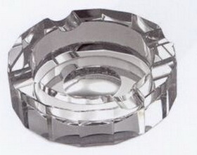 4 Cigar Round Crystal Ashtray with Mirrored Bottom, Price/piece