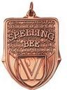 Custom 100 Series Stock Medal (Spelling Bee) Gold, Silver, Bronze
