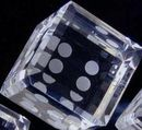 Custom Crystal Dice Paper Weight (2