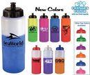 Custom 32 Oz. Mood Sports Bottle w/ Push 'N Pull Cap - 1 Color/ 1 Or 2 Sides