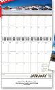 Custom Panoramic Memo Stitched Wall Calendar, 10.375