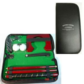 Golf putter set in padded vinyl pouch (Screen printed), Price/piece