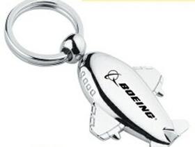 """Minya International Metal Airplane Key Chain, 1 1/2"""" W X 2"""" H X 1 1/4"""" D, Price/piece"""