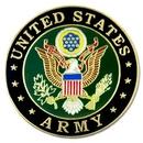 Custom Solid Brass Military - U.S. Army Insignia Pin