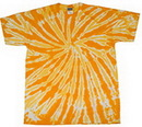 Blank Gold Twist Tye Dye T-Shirt
