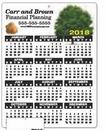 Plastic Wall Calendar