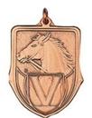 Custom 100 Series Stock Medal (Horse Head) Gold, Silver, Bronze