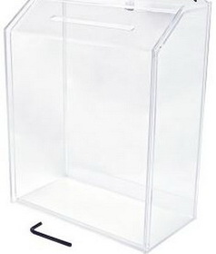 "Large Clear Acrylic Ballot Box (4"" Deep), Price/piece"
