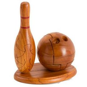 Unique Mahogany Bowling Ball Puzzle (Screened), Price/piece