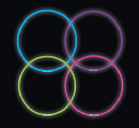 "8"" Premium Glow Bracelets - Assorted Colors (50 Pack)"