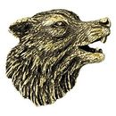 Custom Wolf Mascot Fully Modeled 3 Dimensional Pin