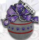 Custom 2015 Die Struck Christmas Ornament (Ball & Ribbon)