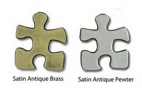 Stock Puzzle Piece Lapel Pin, Price/piece