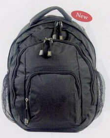 "Mercury Nylon Run Around Backpack W/Multiple Pockets And Detail, Padded Strap (16 1/2""X13""X5 3/4""), Price/piece"