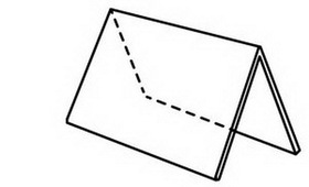 """White Horizontal Single Sided Tent Sign (No Insert) 6""""x4"""", Price/piece"""