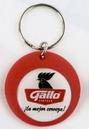 Custom Round Rubber Key Chains w/ Label