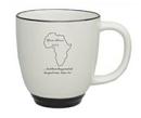 Custom 14 Oz. White Heartland Cool Bistro Mug with Color Trim
