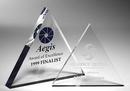 Custom Tripod Clear Triangle Paperweight - Acrylic (6