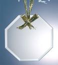 Custom Jade Glass Octagon Ornament, 3