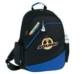 """Banaka Urban Computer Backpack, 600 D Polyester With Pvc Backing, 14"""" W X 18"""" H X 5"""" D, Price/piece"""