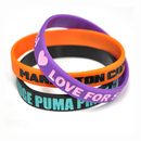 Custom Color Filled Wristbands/Debossed Ink Filled, 8