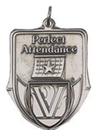 Custom 100 Series Stock Medal (Perfect Attendance) Gold, Silver, Bronze