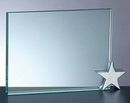 Custom Fidelity Achievement Award w/ Star Chrome Holder - Jade Glass (4