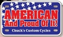 Custom Motorcycle License Plates-6-Ply All-Weather Card