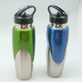 STAINLESS STEEL SPORTS BOTTLE (SET OF 2) (Screen printed), Price/piece