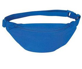 "SanGlobal Polyester 1 Pocket Fanny Pack W/ Adjustable Poly-Web Strap And Plastic Snap Buckle, 10"" W X 5"" H X 3"" D, Price/piece"