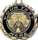 Custom Quali-Craft Checkered Flags Medallion