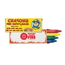 Custom 4 Pack Fire Safety Crayons, 3 3/4