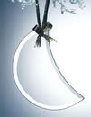 Custom Beveled Jade Glass Ornament - Moon (Sandblasted), 2