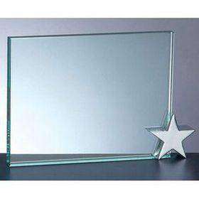 Achievement Award W/ Chrome Star Holder (5x7) - Screened, Price/piece