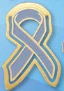 Custom Prostate Cancer Awareness Ribbon Bookmark