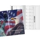 Custom Patriotic Liberty Horizontal Monthly Pocket Planner, 3 5/8