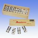 Custom Double 6 Standard Wooden Case Dominoes (Screened)