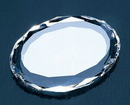 Custom Corporate Facets Oval Paperweight - Optic Crystal