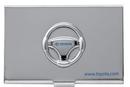 Custom Embossed Steering Wheel Metal Business Card Holder