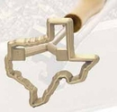 Custom Brass Texas Branding Iron, 2 1/4
