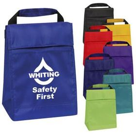 Insulated Lunch Bag with Heat Sealed Water Proof Lining, Open Front Pocket & Velcro Closure, Price/piece
