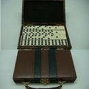 Custom Double Six Dominoes in Leatherette Case 6 IN 1 GAME SET (Screen printed)
