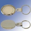Custom Two-Tone Oval Key Holder- Laser Engrave
